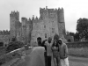 Dwight Philips & Michael Frater with Jess, visiting Kilkea Castle