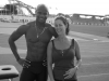Asafa Powell with Jess - Italy Training grounds 2011