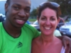 Jess with Yohan Blake 100m World Champion at his training grounds in Jamaica 2011