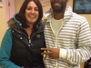 Jess with Tyson Gay on his visit to Ireland