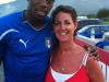 Jess with Usain Bolt at his training grounds Jamaica 2011