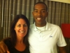 ChristianTaylor World Champion and Olympic Champion in Triple jump with Jess in St. Louis USA